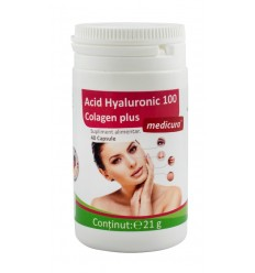 Acid Hyaluronic 100 colagen plus, 40 capsule Medicura
