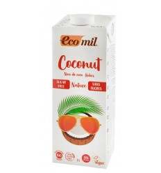 Bautura vegetala Bio de cocos, fara zahar, 1L Ecomil
