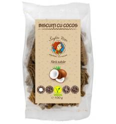Biscuiti cu cocos, fara zahar, 100 g