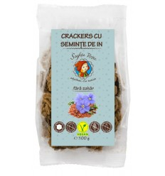 Crackers cu seminte de in, fara zahar, 100 g