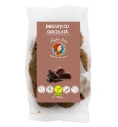 Biscuiti cu ciocolata, 100 g