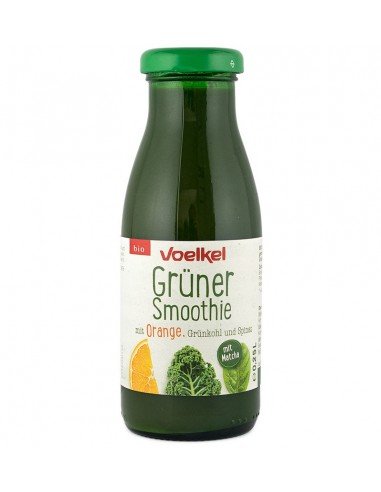 Voelkel - Smoothie verde BIO, cu portocale, varza verde si spanac, 0,25L