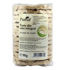 Turte din orez integral cu sare de mare, 90 g