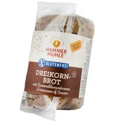 Hammer Muhle - Paine din trei cereale cu seminte de floarea-soarelui, seminte de in, susan, 300 gr