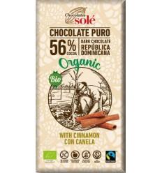Ciocolată neagră BIO cu scorţişoară Chocolates Sole 100 g