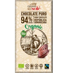 Chocolates Sole – Ciocolata neagra BIO si fairtrade 94% cacao, 100g