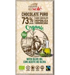 100 g Ciocolată neagră BIO cu ulei extravirgin de măsline