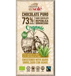 100 g Ciocolată neagră BIO cu sirop de Agave