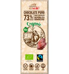 25 gr Mini tableta ciocolată neagră BIO 73% cacao Chocolates Sole