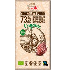 Ciocolata neagra BIO 73% cacao 100 gr Chocolates Sole
