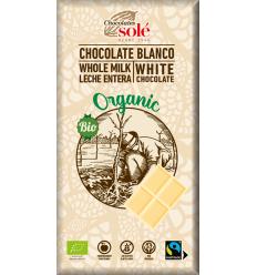 Ciocolată albă BIO Chocolates Sole 100 g
