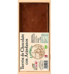 Chocolates Sole – Ciocolata BIO Turron cu afine negre, (minim 30% continut de cacao) 200 g