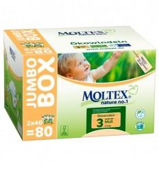 Scutece ECO pentru bebelusi (4-9kg), pachet Jumbo 80 buc