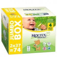 Scutece ECO pentru bebelusi (7-18kg), pachet 74 buc