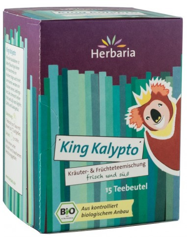 HERBARIA – CEAI BIO DIN PLANTE SI FRUCTE KING KALYPTO, 15x2G