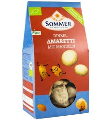 SOMMER – Biscuiti BIO Amaretti din faina de grau spelta cu migdale, 100g