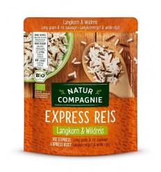 Orez BIO cu bob lung si orez salbatic, prefiert, Express Reis, 250 g Natur Compagnie