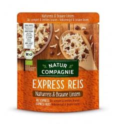 Orez BIO integral si linte bruna, Express Reis, 250 g Natur Compagnie