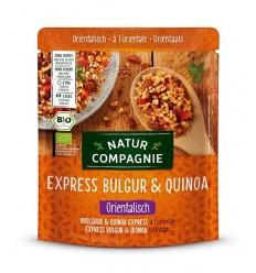 Mancare BIO de bulgur si quinoa în stil oriental, Express, 250 g Natur Compagnie