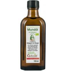 Ulei de floarea soarelui BIO cu plante medicinale, pentru gura 100 ml Hildegard von Bingen