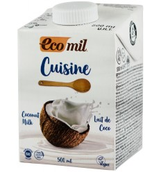 CREMA VEGETALA BIO PENTRU GATIT PE BAZA DE COCOS, 500ML ECOMIL CUISINE
