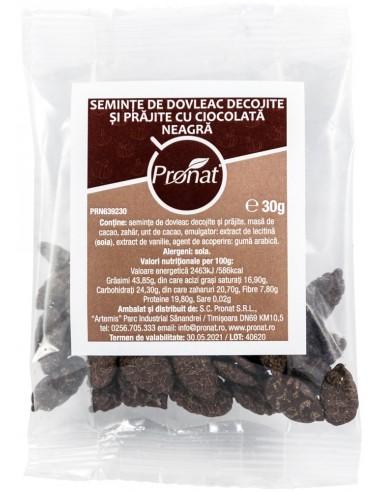 Seminte de dovleac decojite si prajite, cu ciocolata neagra, 30g