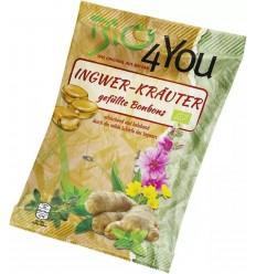 BIO FOR YOU – Dropsuri BIO umplute din ghimbir și plante, 75 g