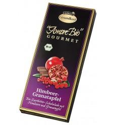 LIEBHART'S AMORE BIO – Ciocolată amăruie cu zmeură și rodie, 55% cacao, 100 g