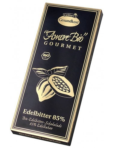 LIEBHART'S AMORE BIO – Ciocolată neagră, 85% cacao, 100 g