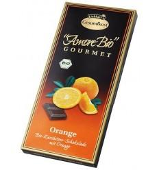 LIEBHART'S AMORE BIO – Ciocolată amăruie cu portocale, 55% cacao, 100 g