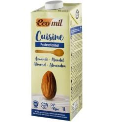 ECOMIL CUISINE – CREMA VEGETALA BIO DIN MIGDALE, PENTRU GATIT, 1000 ML