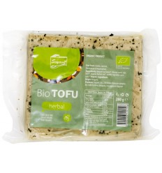 Tofu BIO cu verdeturi, 200 g Soyavit