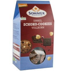 Sommer - Biscuiti bio din faina de alac integral cu ciocolata amaruie si alune, Demeter, 150gr