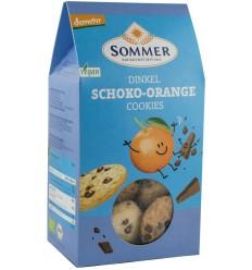 Sommer - Biscuiti bio din alac cu ciocolata amaruie si ulei de portocale, Demeter, 150gr