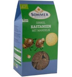 Sommer – Biscuiti bio din alac cu migdale si castane, 150gr