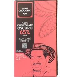 Ciocolata neagra cu cafea 65% cacao, 65g Juan Choconat