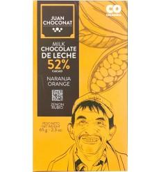 Ciocolata cu lapte si portocale, 65g Juan Choconat