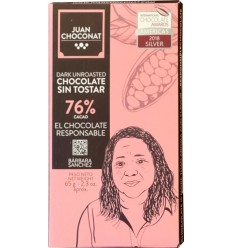 Ciocolata 76% cacao neprajita, 65g Juan Choconat