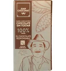 Ciocolata neagra 100% cacao neprajita, 65g Juan Choconat