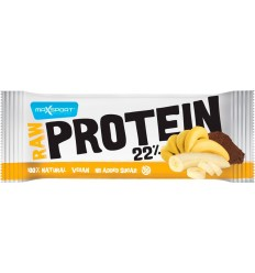 RAW PROTEIN 22% BATON PROTEIC CU BANANE SI CACAO, 50G MAX SPORT