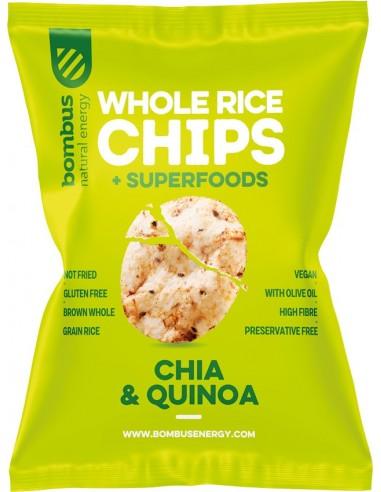 Chipsuri de orez cu chia si quinoa 60 g Bombus