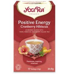 Ceai Bio ENERGIE POZITIVA Merisor & Hibiscus, 17 pliculete - 30.6 g Yogi Tea