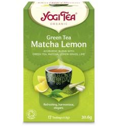 Ceai Bio VERDE Cu MATCHA SI LAMAIE, 17 pliculete - 30.6g Yogi Tea
