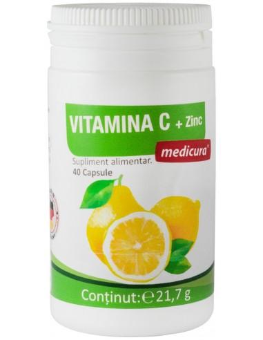 Vitamina C + Zinc 40 cp
