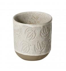 Cana din ceramica 0.2l, cu design frunza