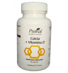 Calciu + Vitamina D 60 capsule