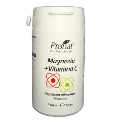 Magneziu + Vitamina C 60 capsule