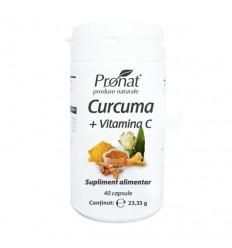 Curcuma cu vitamina C 40 de capsule