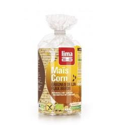 LIMA - Vafe Bio subtiri din malai cu seminte de in, 150 g