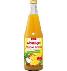 Suc BIO de ananas cu cocos, 0.7 L